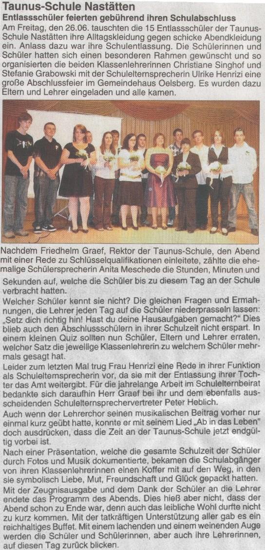 Artikel_Abschlussfeier_2009